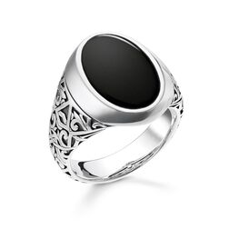ring black from the Rebel at heart collection in the THOMAS SABO online store
