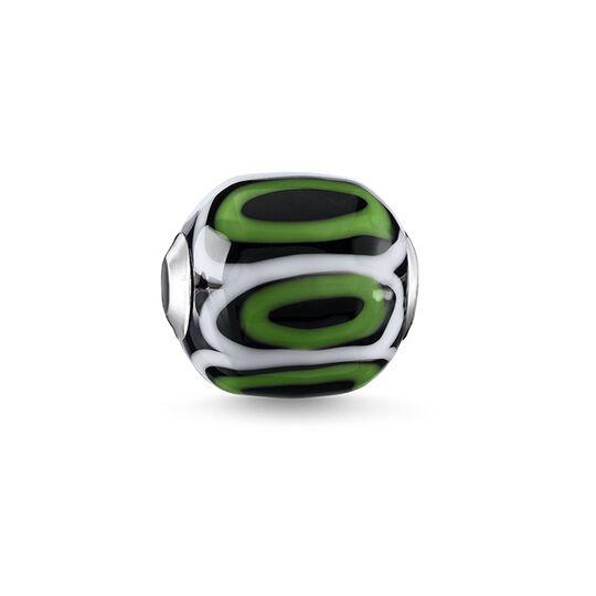 """Bead """"Glas-Bead Grün, Schwarz, Weiß"""" aus der Karma Beads Kollektion im Online Shop von THOMAS SABO"""