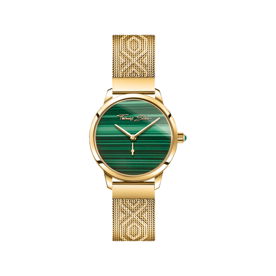 montre pour femme Garden Spirit malachite or de la collection Glam & Soul dans la boutique en ligne de THOMAS SABO