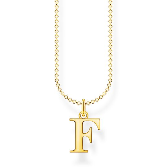 Necklace letter F gold from the Charming Collection collection in the THOMAS SABO online store