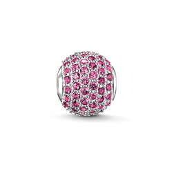 """Bead """"pink sapphire pavé"""" from the Karma Beads collection in the THOMAS SABO online store"""