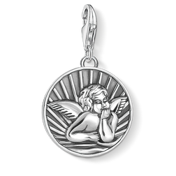 Charm pendant disc guardian angel from the  collection in the THOMAS SABO online store