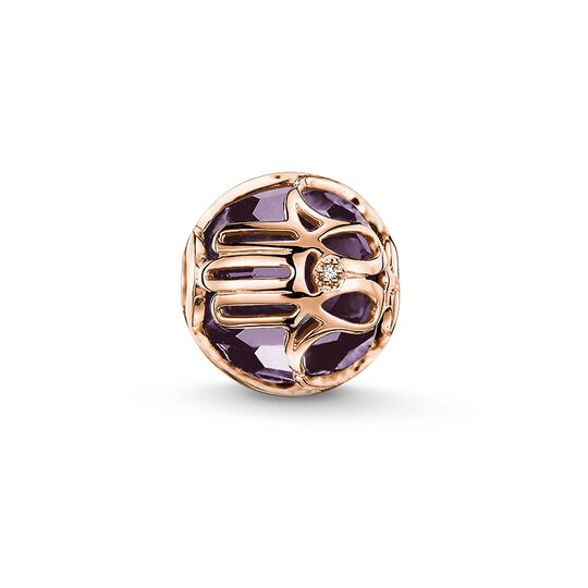 Bead mano di Fatima malva from the Karma Beads collection in the THOMAS SABO online store
