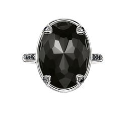 "cocktail ring ""lotus black"" from the Glam & Soul collection in the THOMAS SABO online store"