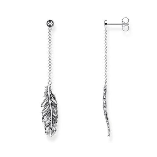 earrings feather from the Rebel at heart collection in the THOMAS SABO online store