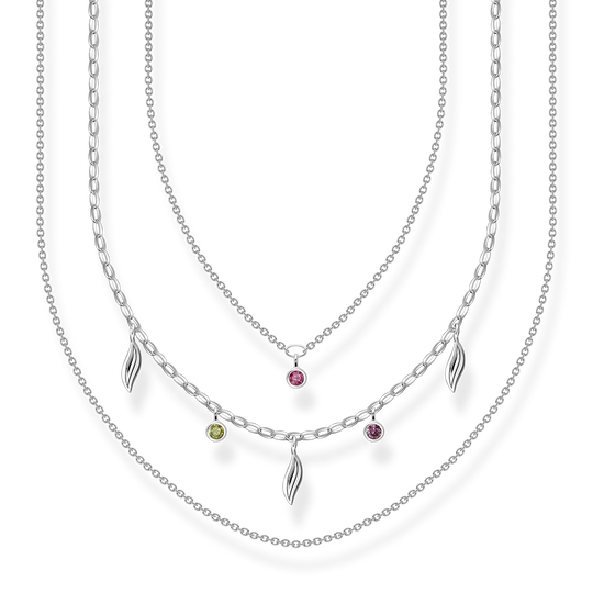 Necklace Layering leaves silver from the Glam & Soul collection in the THOMAS SABO online store