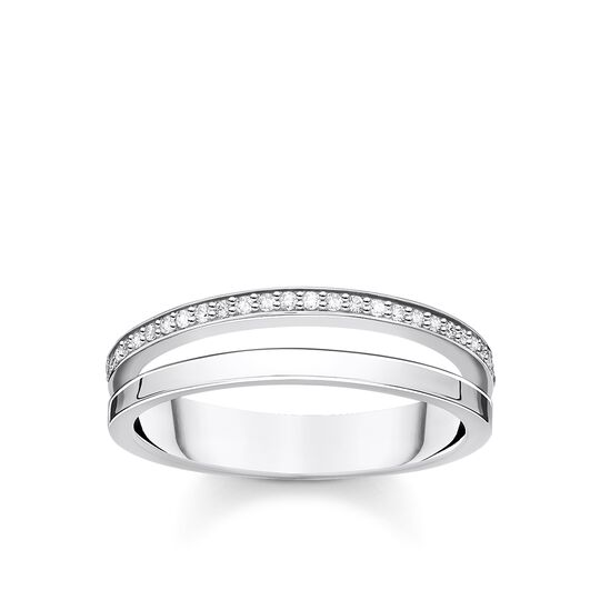 Ring double white stones silver from the Charming Collection collection in the THOMAS SABO online store