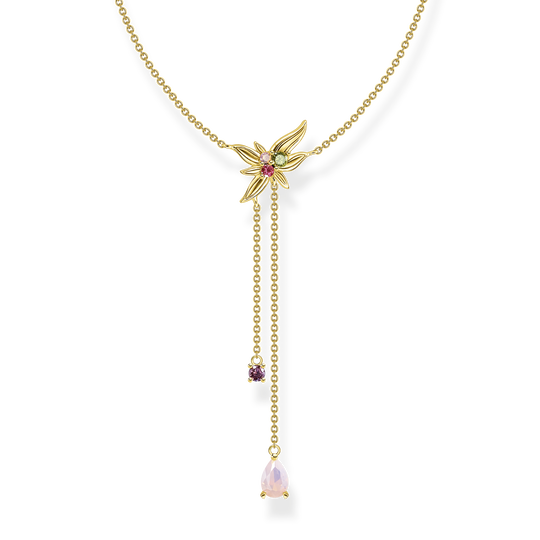 Necklace Y-Kette flower gold from the Glam & Soul collection in the THOMAS SABO online store