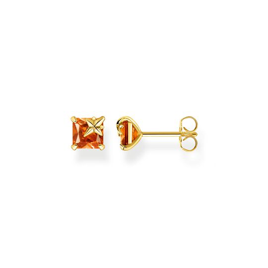 Ear studs orange stone with star from the  collection in the THOMAS SABO online store