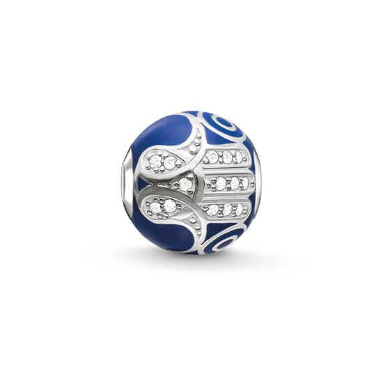 """Bead """"main de Fatima bleue"""" de la collection Karma Beads dans la boutique en ligne de THOMAS SABO"""