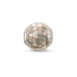 """Bead """"madreperla grigia"""" from the Karma Beads collection in the THOMAS SABO online store"""