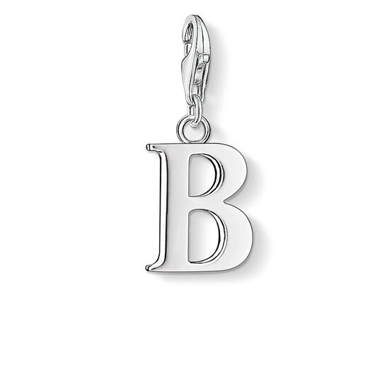 Charm pendant letter B from the Charm Club collection in the THOMAS SABO online store