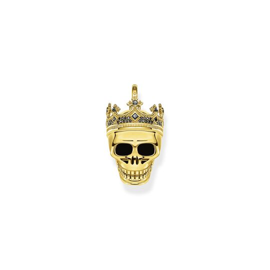 Pendant skull King gold from the  collection in the THOMAS SABO online store