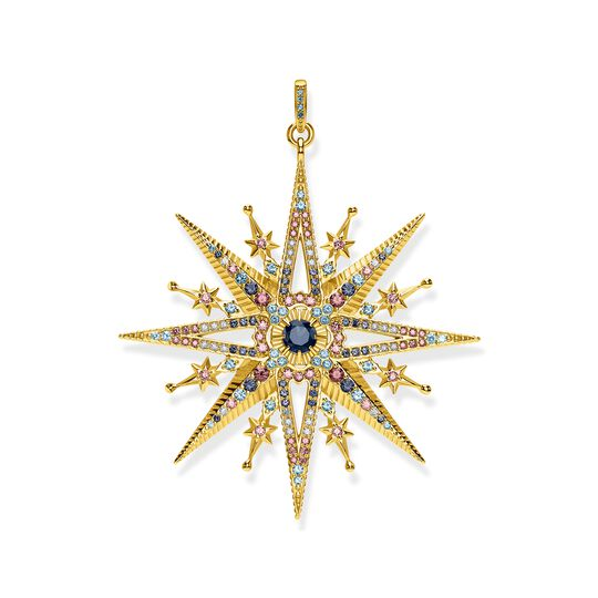 Pendant royalty star gold from the  collection in the THOMAS SABO online store
