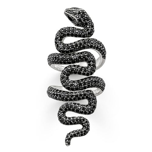 """ring """"black snake pavé"""" from the Glam & Soul collection in the THOMAS SABO online store"""