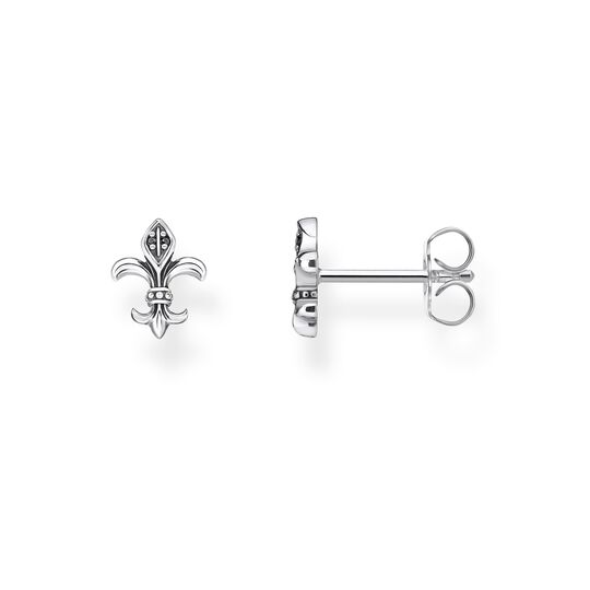 ear studs fleur-de-lis from the Rebel at heart collection in the THOMAS SABO online store