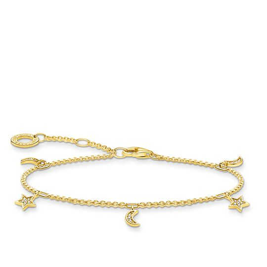 Bracelet star & moon gold from the Charming Collection collection in the THOMAS SABO online store