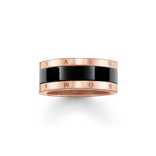 band ring black ceramic from the  collection in the THOMAS SABO online store