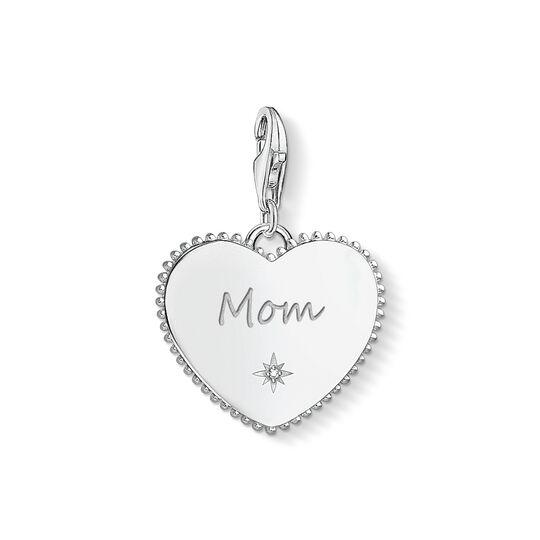 Charm-Anhänger Herz Mom silber aus der Charm Club Kollektion im Online Shop von THOMAS SABO
