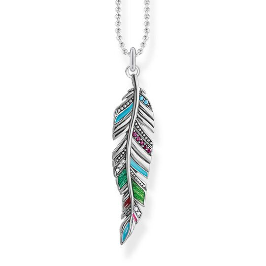necklace Ethnic feather from the Glam & Soul collection in the THOMAS SABO online store