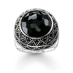"cocktail ring ""black zig zag"" from the Glam & Soul collection in the THOMAS SABO online store"