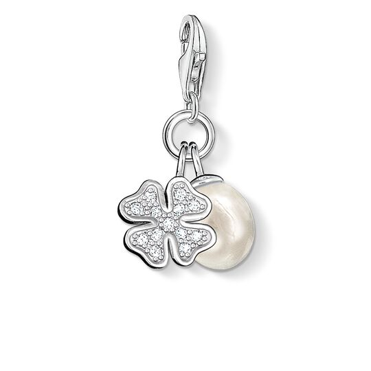 Charm pendant cloveleaf with pearl from the  collection in the THOMAS SABO online store