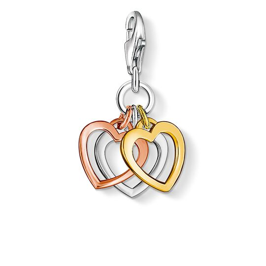 Charm pendant three hearts from the  collection in the THOMAS SABO online store
