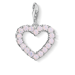 Charm pendant Heart with hot pink stone from the  collection in the THOMAS SABO online store