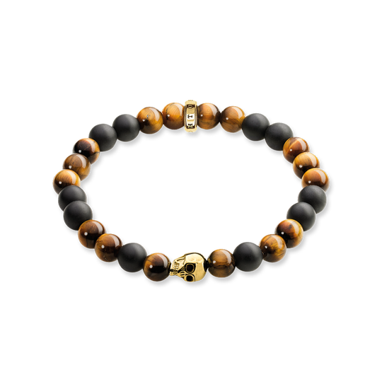 bracelet brown skull from the Rebel at heart collection in the THOMAS SABO online store