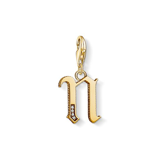 Charm pendant letter N gold from the Charm Club collection in the THOMAS SABO online store