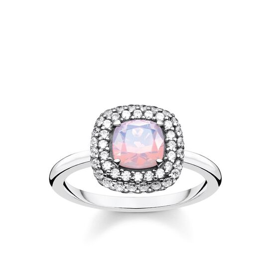 ring shimmering pink opal colour effect from the Glam & Soul collection in the THOMAS SABO online store