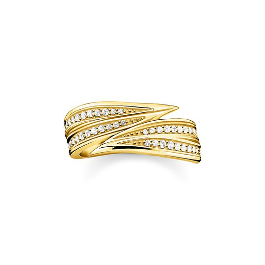 ring leaves gold from the  collection in the THOMAS SABO online store