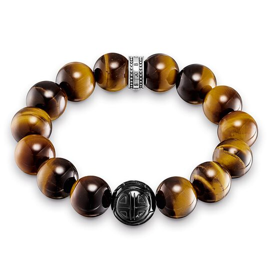 "bracelet ""Power Bracelet brown"" from the Rebel at heart collection in the THOMAS SABO online store"
