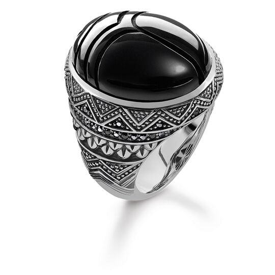 ring black scarab from the Rebel at heart collection in the THOMAS SABO online store
