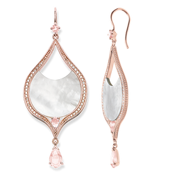 "earrings ""pink lotus"" from the Glam & Soul collection in the THOMAS SABO online store"