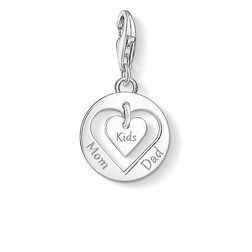 "ciondolo Charm ""cuore MOM, DAD, KIDS"" from the  collection in the THOMAS SABO online store"