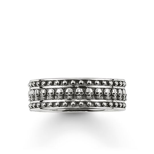 band ring skull from the Rebel at heart collection in the THOMAS SABO online store