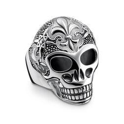 """Ring """"Lilien Totenkopf"""" aus der Rebel at heart Kollektion im Online Shop von THOMAS SABO"""