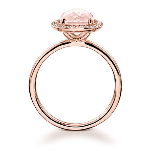 """solitaire ring """"pink"""" from the Glam & Soul collection in the THOMAS SABO online store"""