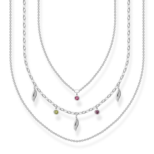 Necklace Layering leaves silver from the  collection in the THOMAS SABO online store