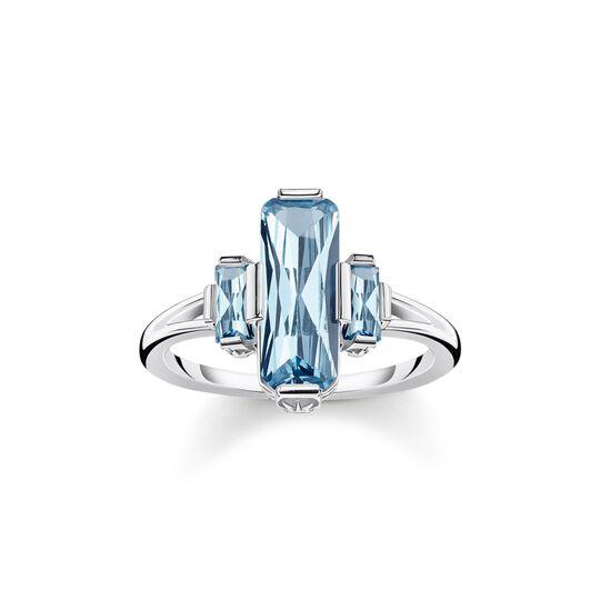Ring große blaue Steine aus der  Kollektion im Online Shop von THOMAS SABO