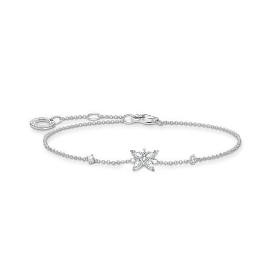 Bracelet butterfly white stones from the Charming Collection collection in the THOMAS SABO online store