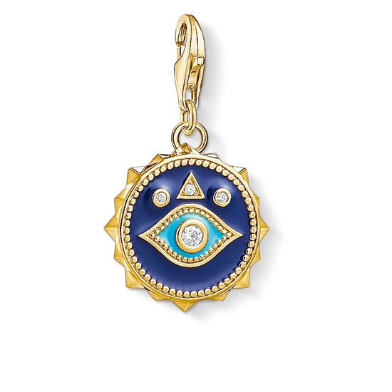 Charm pendant blue nazar eye 1663 charm club thomas sabo charm pendant quotblue nazar eye quot from the collection in the thomas sabo mozeypictures Image collections