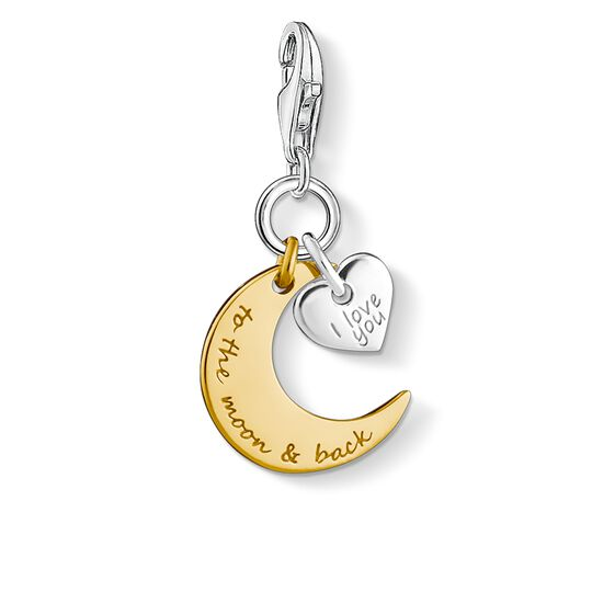 Charm pendant I LOVE YOU TO THE MOON  from the  collection in the THOMAS SABO online store