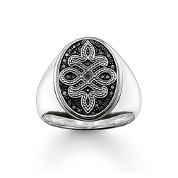 "signet ring ""Love Knot"" from the Rebel at heart collection in the THOMAS SABO online store"