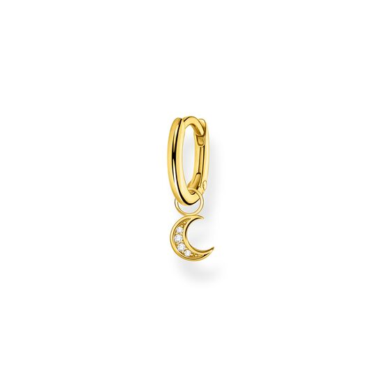 Single hoop earring with moon gold from the Charming Collection collection in the THOMAS SABO online store