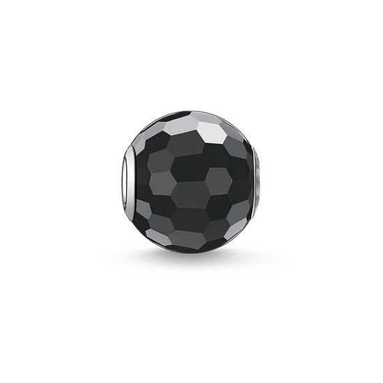 "Bead ""obsidian faceted"" from the Karma Beads collection in the THOMAS SABO online store"