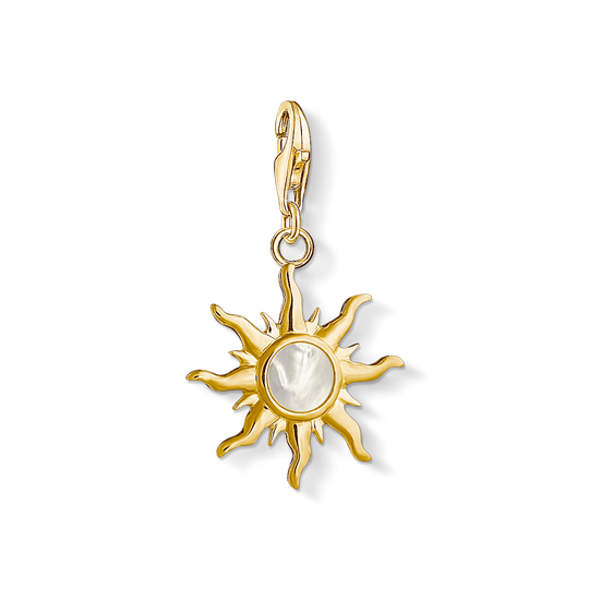 Charm pendant Sun with mother-of-pearl stone from the Charm Club collection in the THOMAS SABO online store