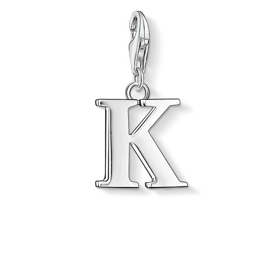 "ciondolo Charm ""lettera K"" from the  collection in the THOMAS SABO online store"