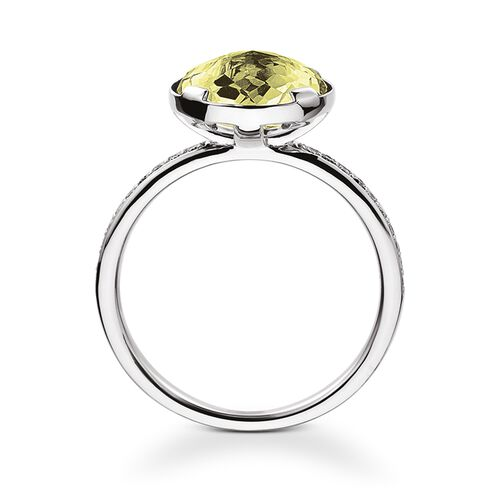 """solitaire ring """"heart chakra"""" from the Chakras collection in the THOMAS SABO online store"""